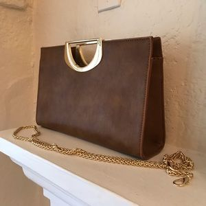 Fashion Brown Faux Leather Clutch